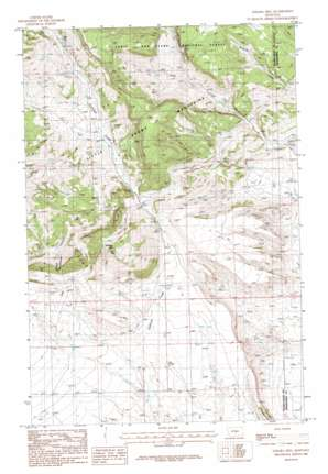 Sahara Hill topo map