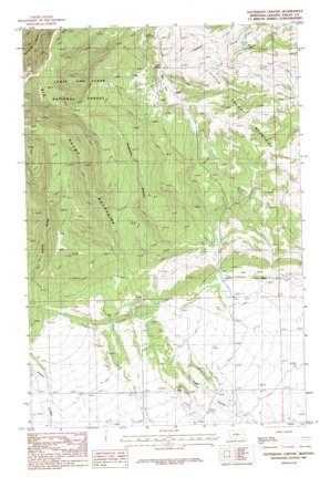 Patterson Canyon topo map