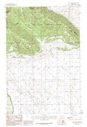 Mead Creek topo map