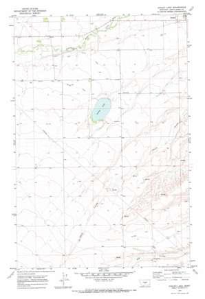Ackley Lake topo map