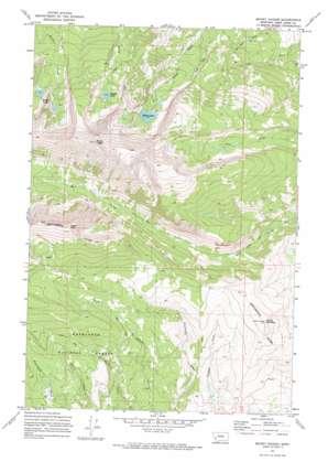 Mount Haggin topo map