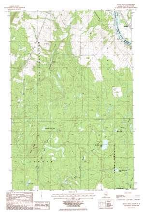 Doyle Ridge topo map