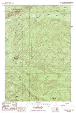 Mclean Mountain topo map