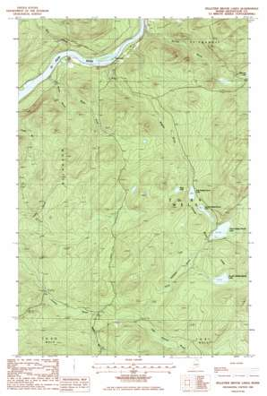 Pelletier Brook Lakes USGS topographic map 47068a8