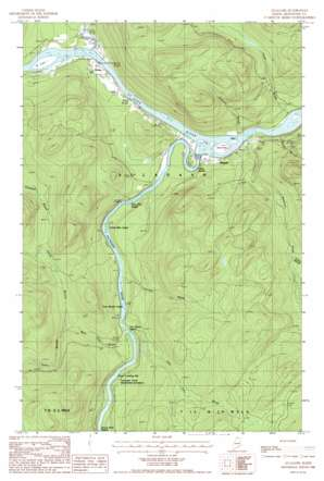 Allagash USGS topographic map 47069a1