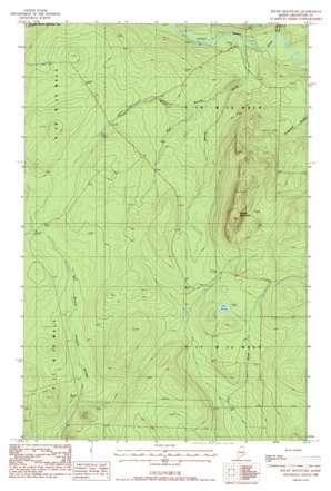 Rocky Mountain topo map