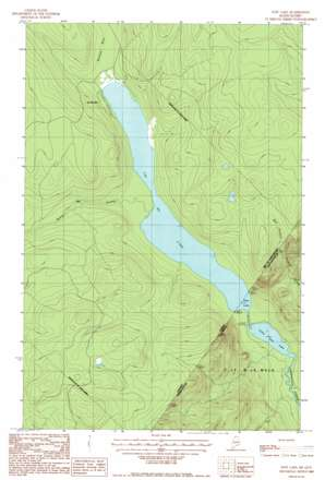 East Lake topo map
