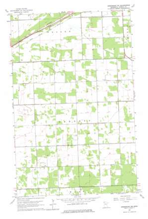 Greenbush Ne topo map