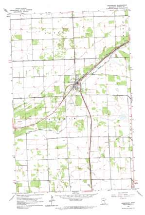 Greenbush topo map