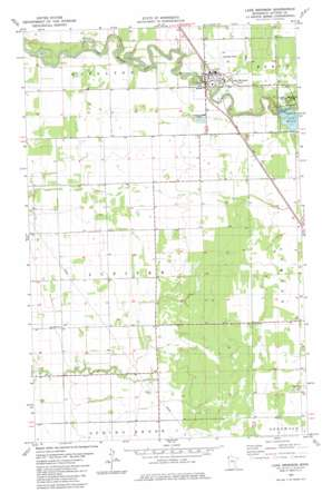 Lake Bronson topo map