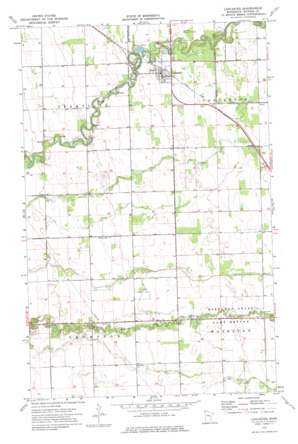 Lancaster topo map