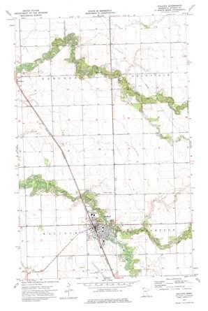 Hallock topo map