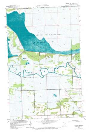 Badger Nw topo map