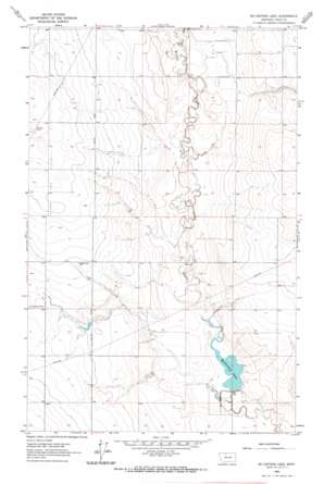 Mccarters Lake topo map
