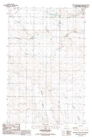 Antelope Coulee NW USGS topographic map 48111f6