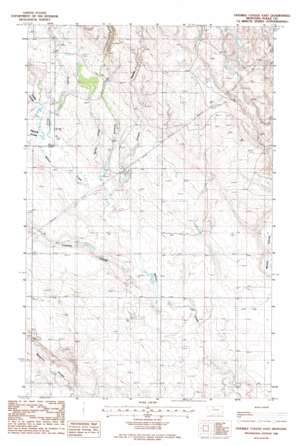 Fivemile Coulee East topo map