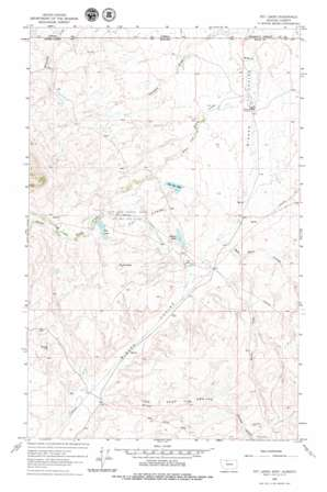 Fey Lakes topo map