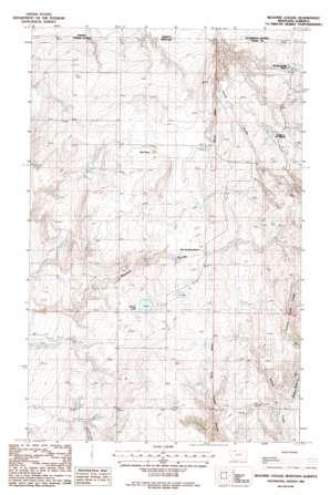 Beaupre Coulee topo map