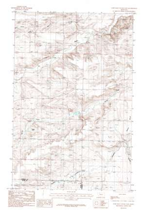 Lone Man Coulee East topo map