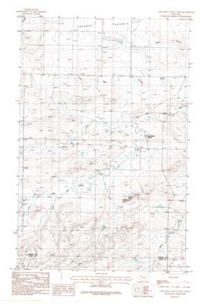 Lone Man Coulee West topo map