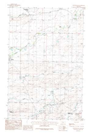 Dupuyer East topo map