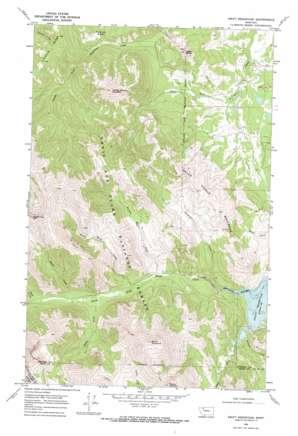 Swift Reservoir topo map