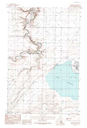 Valier West topo map