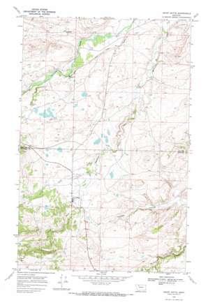 Heart Butte topo map