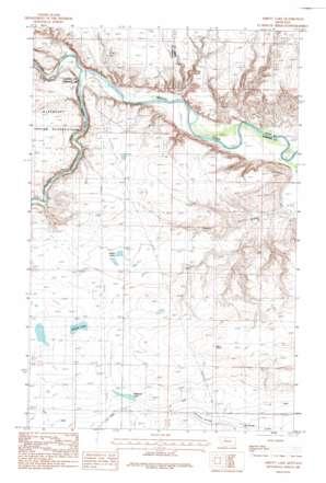 Abbott Lake topo map