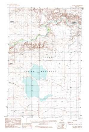 Flag Butte topo map