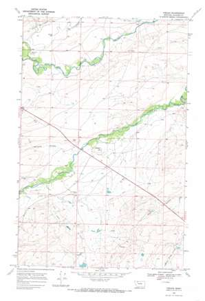 Piegan topo map