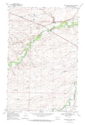 White Man Coulee topo map
