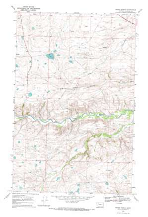 Magee Ranch topo map