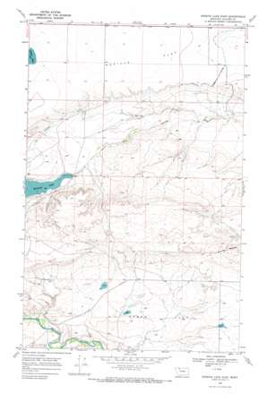 Mission Lake East topo map