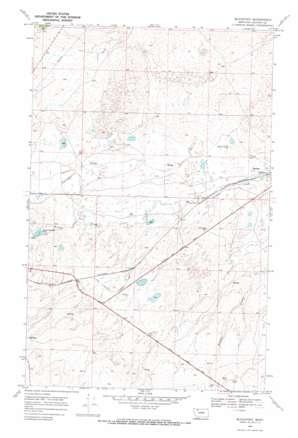 Blackfoot topo map