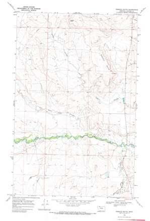 Rimrock Butte topo map