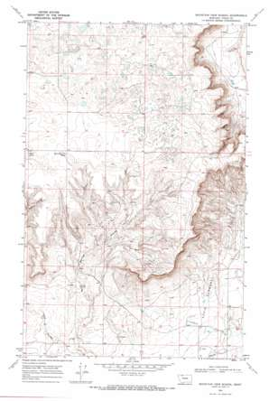 Mountain View School topo map