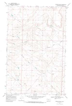 Rimrock Ranch topo map