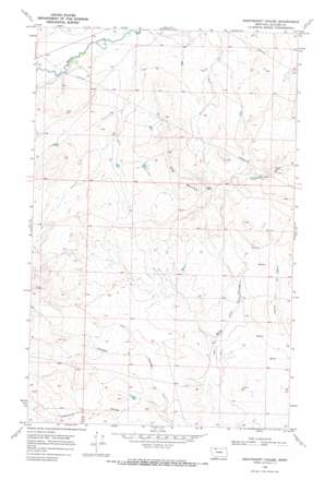 Nightshoot Coulee topo map