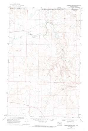 Landslide Butte topo map