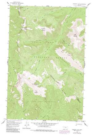Crescent Cliff topo map