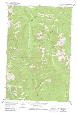 Red Plume Mountain topo map