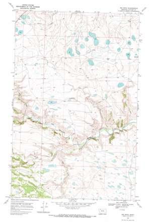Big Rock topo map