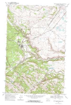 East Glacier Park topo map