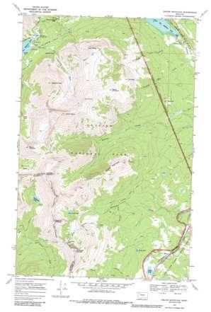 Squaw Mountain topo map