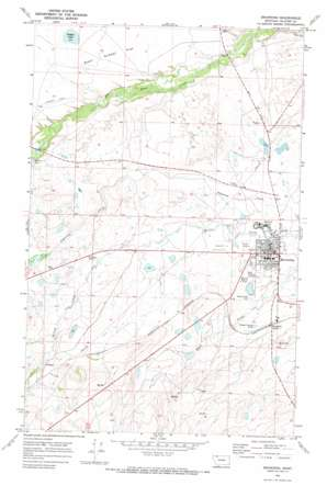 Browning topo map