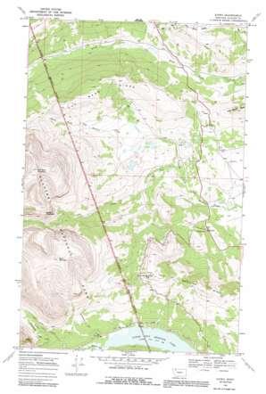 Kiowa topo map