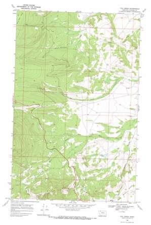 Fox Creek topo map