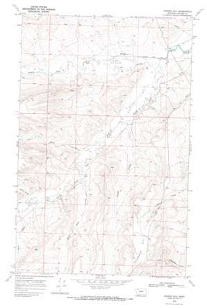 Hoodoo Hill topo map