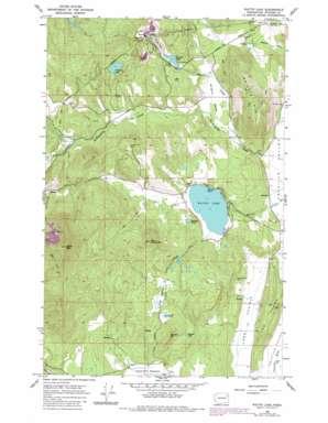 Waitts Lake topo map